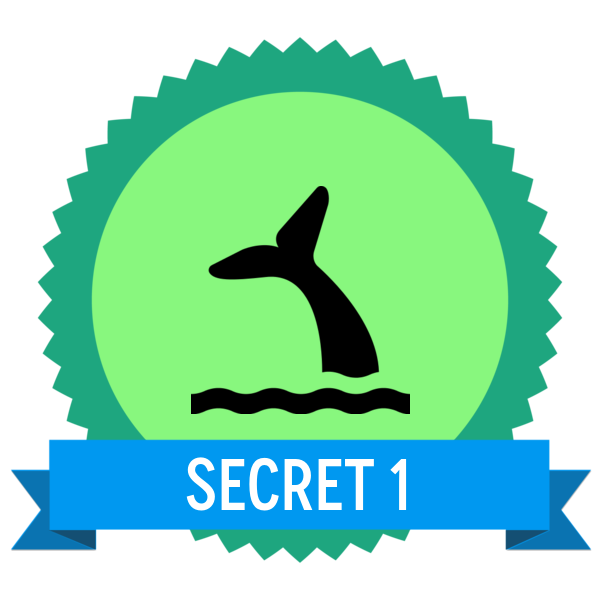 """Badge icon """"Whale Viewing (492)"""" provided by The Noun Project under The symbol is published under a Public Domain Mark"""
