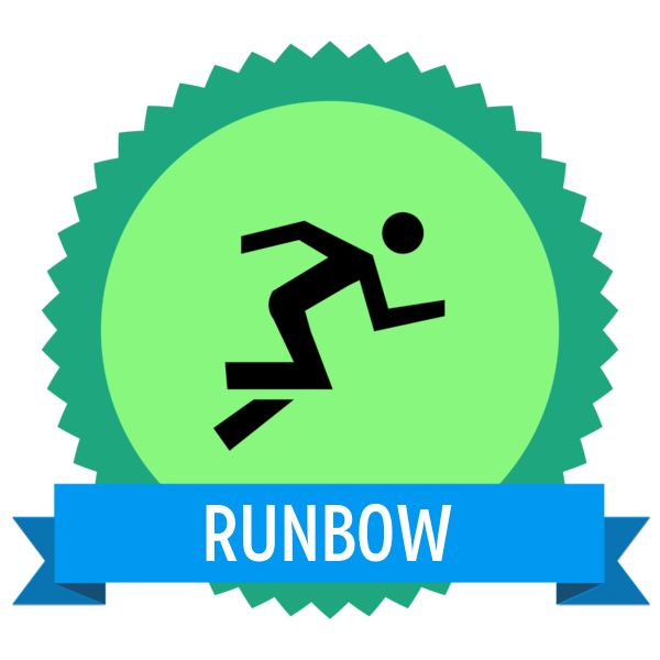 """Badge icon """"Running (5361)"""" provided by The Noun Project under Creative Commons CC0 - No Rights Reserved"""