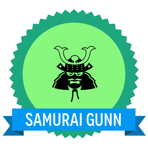 "Badge icon ""Samurai (1991)"" provided by Simon Child, from The Noun Project under Creative Commons - Attribution (CC BY 3.0)"